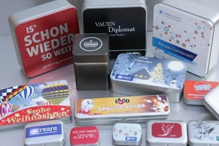 Blechdosen - ideale Geschenkverpackung für Firmen